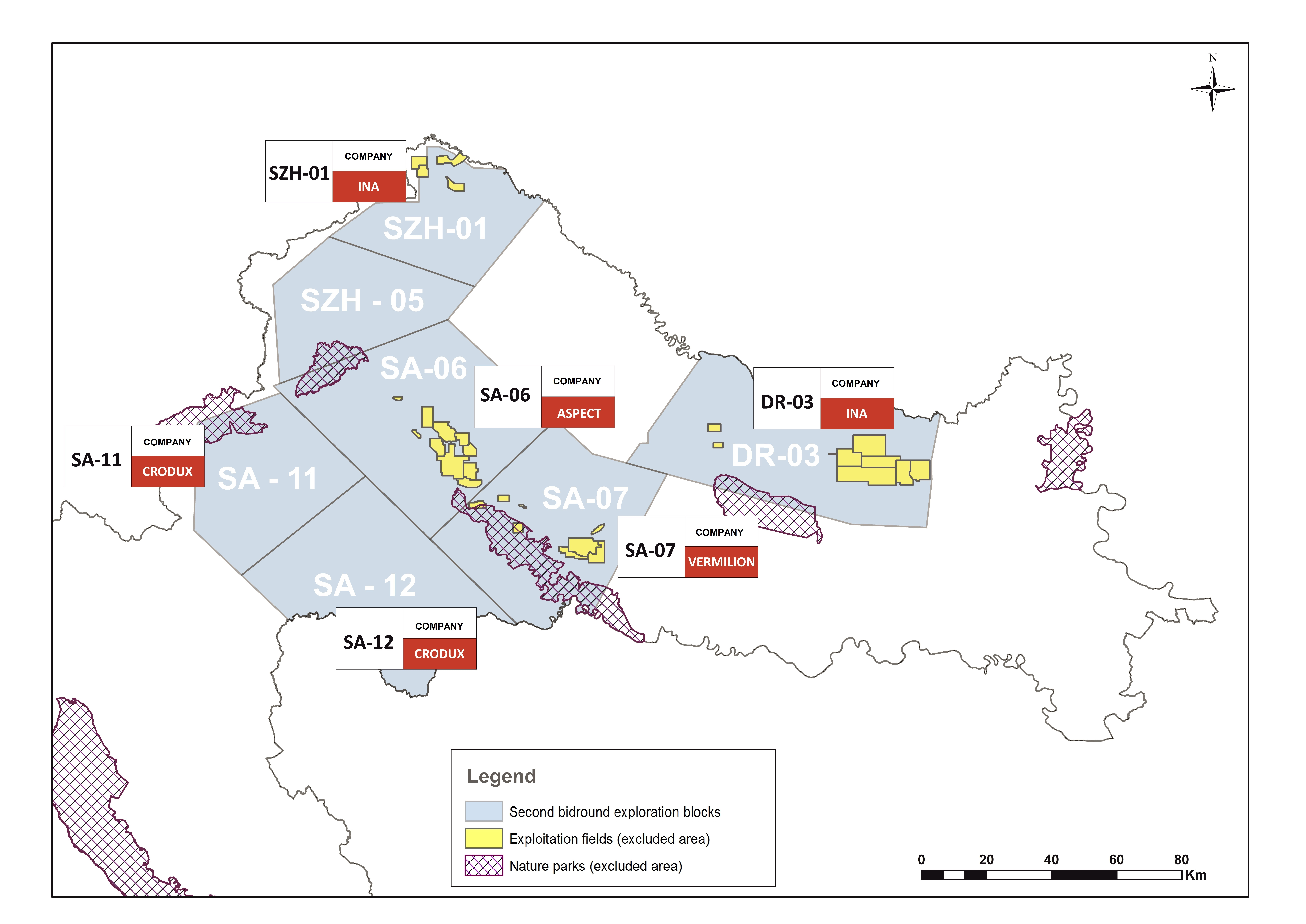 Croatia awards six onshore oil and gas exploration licences in Pannonian Basin